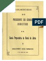 Relatório do Presidente do Conselho Directivo