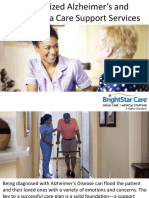 Customized Alzheimer's and Dementia Care Support Services