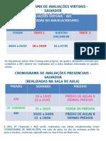 Cronograma de Avaliações Disicplinas on-line (1)