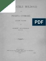 Constantin Giurescu - Capitulațiile Moldovei Cu Poarta Otomană - Studiu Istoric