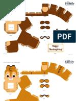 Chip Dale Cutie Papercraft Craft Printable 1012 0 FDCOM