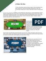Tips Dasar Bermain Poker On line