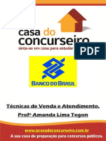 Apostila Banco do Brasil - Técnicas de Vendas
