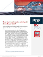 IT service transformation with hybrid cloud