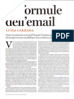 Le formule dell'email