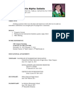 Resume of a fresh education graduate