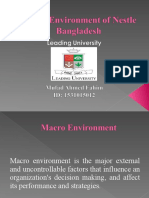 Macro Environment of Nestle Bangladesh