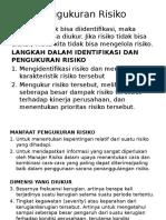 Materi 8 Pengukuran Risiko