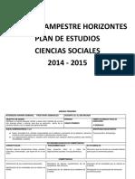 Colegio Campestre Horizontes - Plan de Estudios 2015 (1)