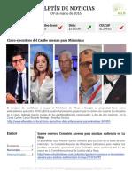 Boletín de noticias 09MAR2016