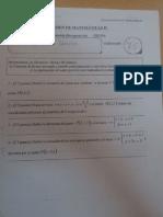 Examen Geometría Analitica 2º Bachillerato