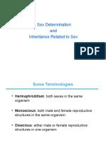 Sex Determination and Inheritance