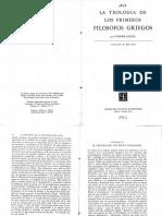 Heraclito y Parmenides en Jaeger La Teologia de Los Primeros Filosofos Griegos Ocr