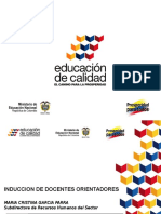 Inducción docente orientador