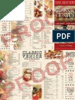 Taradel.com Venice-Style Pizza Menu Example