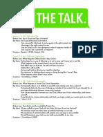 The Talk Parent Booklet