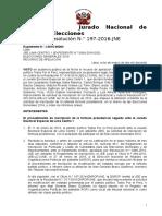 Resolucion JNE Confirma Tachas Contra Julio Guzman