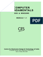 Computer Fundamentals, DOS & Windows Fundamentals