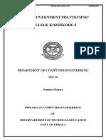 C T Seminar Report kgptc
