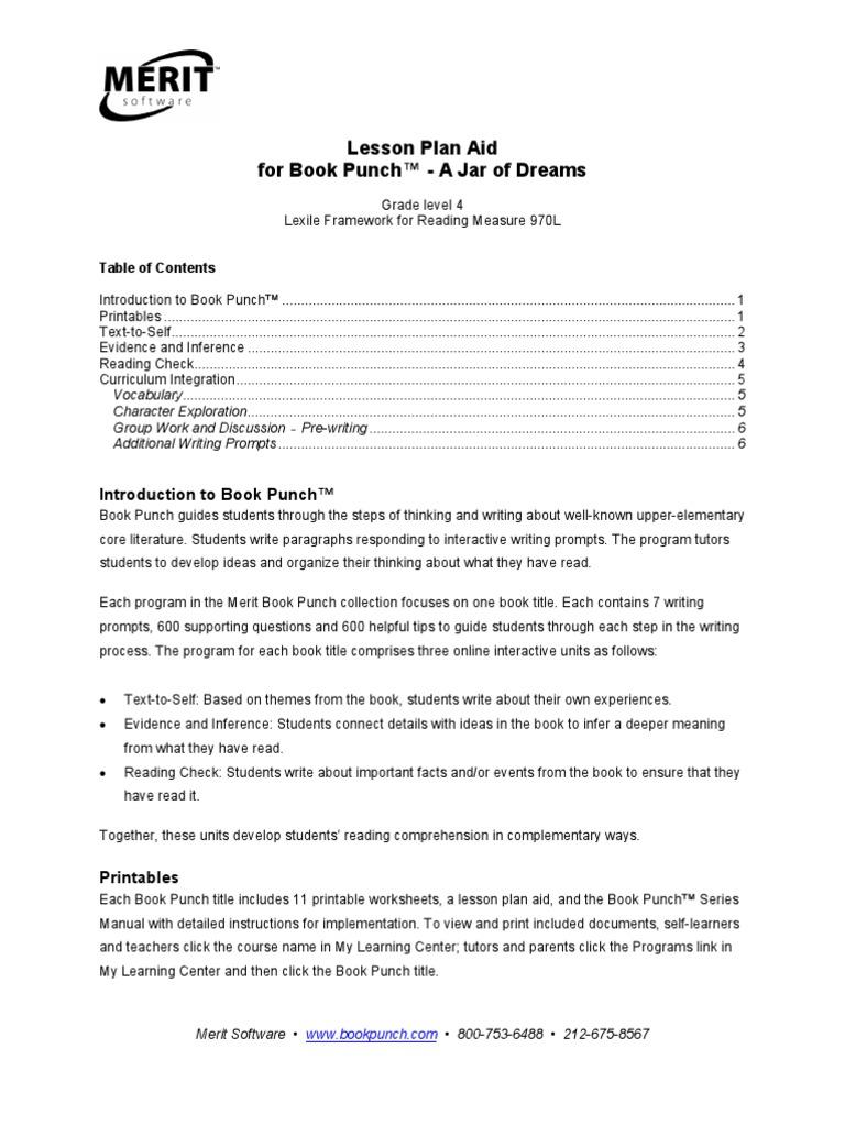 Uncategorized Age Of Exploration Worksheets a jar of dreams lesson plan reading comprehension