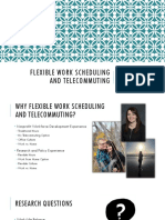 flexible work scheduling and telecommuting - m  sheldon