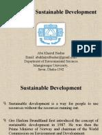 Criticism of Sustainable Development by Abu Khairul Bashar