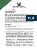 Resolución contra Julio Guzman N.° 197-2016-JNE