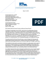 NCTCOG Letter to DOJ About Volkswagen
