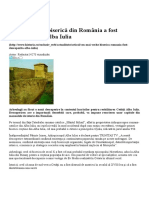 Cea Mai Veche Biserică Din România a Fost Descoperită La Alba Iulia