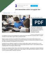 Pesquisa mostra dados alarmantes sobre corrupção dos alunos brasileiros