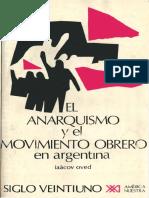El Anarquismo y El Movimiento Obrero en Argentina - Iaacov Oved