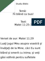 Studiu Biblic 6 Martie