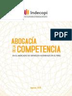Abogacía de La Competencia en El Mercado de Servicios Notariales en El Perú