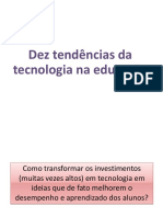 Dez tendências da tecnologia na educação