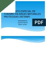 Reglamento Especial de Turismo en Áreas Naturales Protegidas