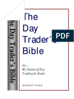 the Day Trader_s Bible - Or My Secret in Day Trading of Stocks
