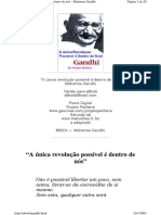 A Revolução Possível é Dentro de Nós - Mahatma Gandhi