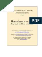 Humanisme Et Terreur