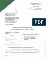 Declaration of Greg Whisenant- Public Engines vs. ReportSee