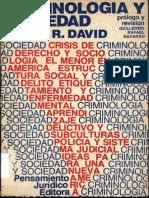 Criminologia Y Sociedad David Pedro R