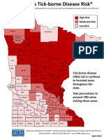 High Risk Areas for Tick-Borne Diseases in Minnesota