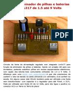 Circuito Eliminador de Pilhas e Baterias Com Lm317 de 1
