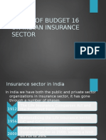 Budget on Insurance-2016