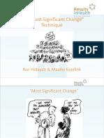 Most Significant Change (MSC) Handouts