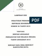 Lampiran Xxii Dana Desa Kab Kota Perpres 6 2015