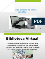Bibliotecas y Bases de Datos Remotas