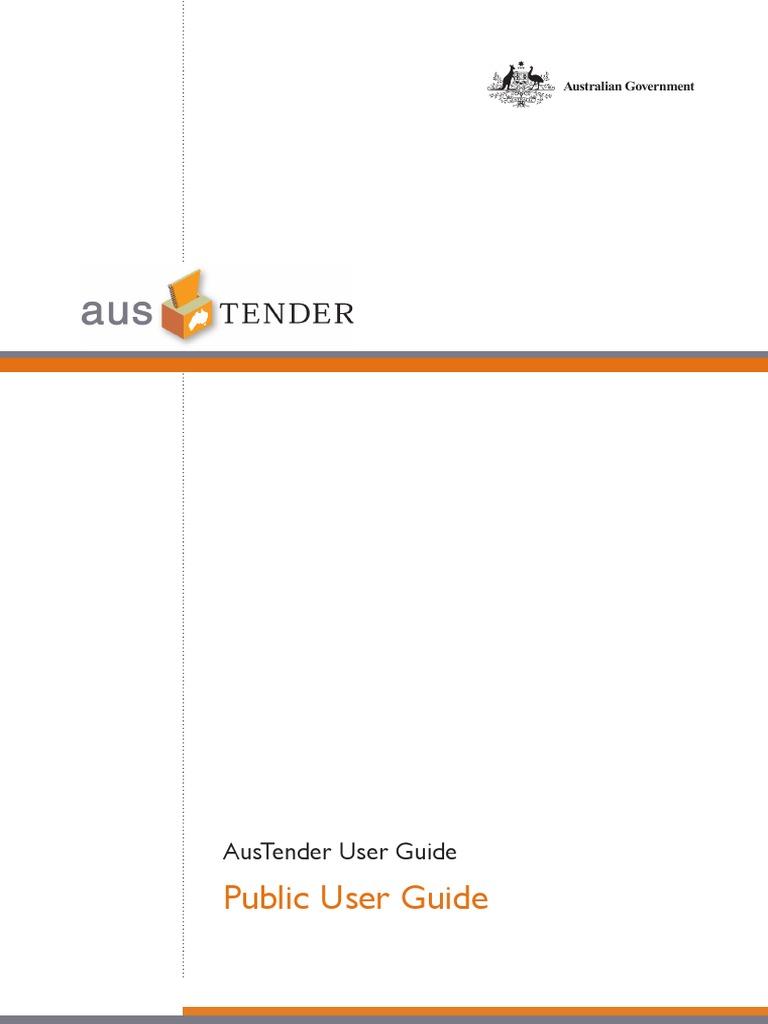austender public user guide email password rh scribd com Samsung User Manual Guide Blip Scale User's Guide