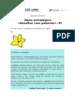 ESCRITA - 5º - 1º Período, 1ª Atividade «Desafios Com Palavras