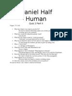 Daniel Half Human Quiz 2 Teacher Edition