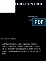 Inventory Control Final Ppt
